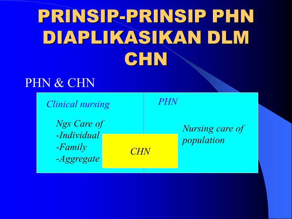PRINSIP-PRINSIP PHN DIAPLIKASIKAN DLM CHN
