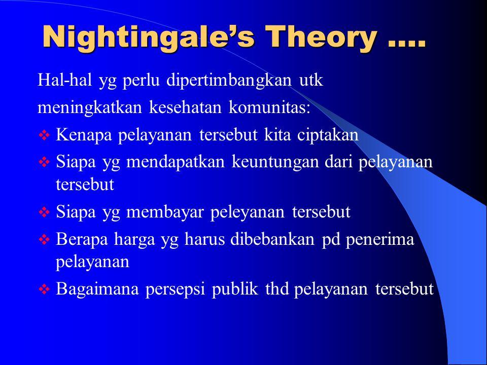 Nightingale's Theory ….