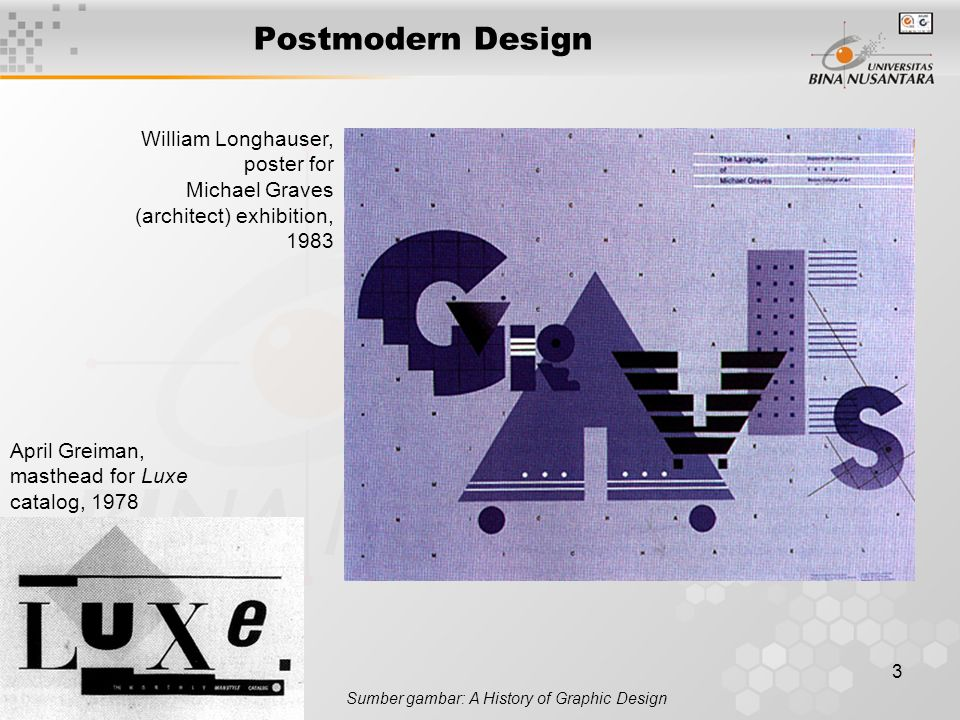 Postmodern Design William Longhauser, poster for Michael Graves