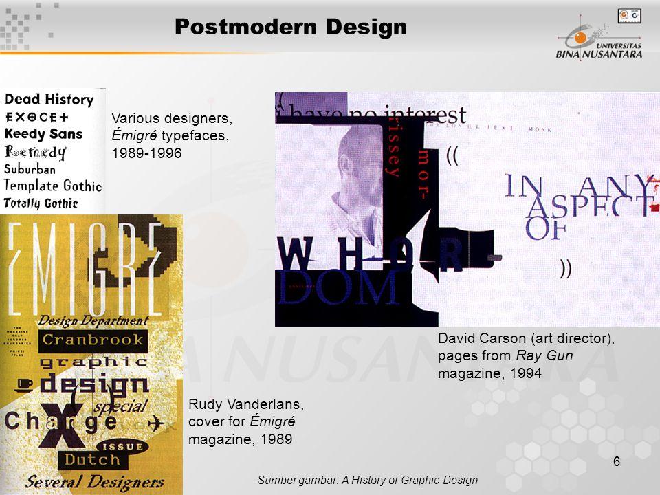 Postmodern Design Various designers, Émigré typefaces, 1989-1996