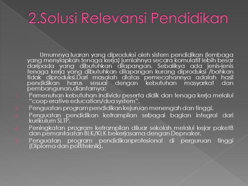 2.Solusi Relevansi Pendidikan