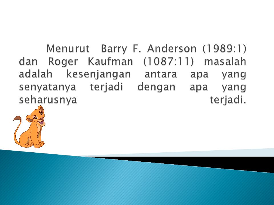 Menurut Barry F.