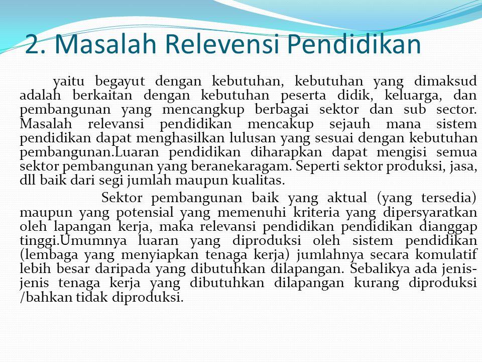 2. Masalah Relevensi Pendidikan