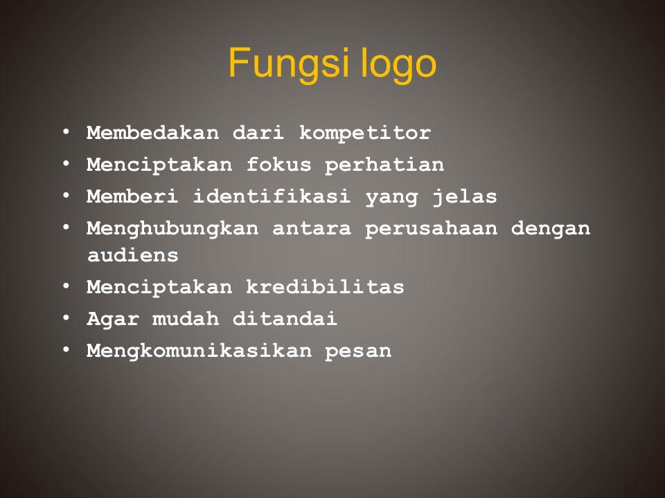 Fungsi logo Membedakan dari kompetitor Menciptakan fokus perhatian