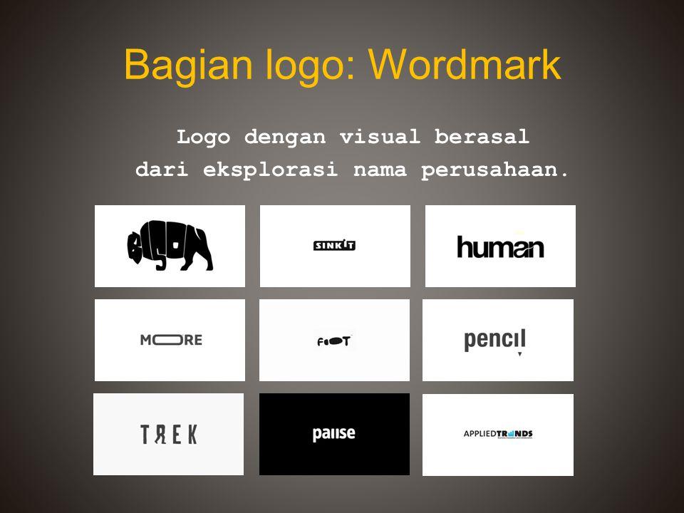 Logo dengan visual berasal dari eksplorasi nama perusahaan.