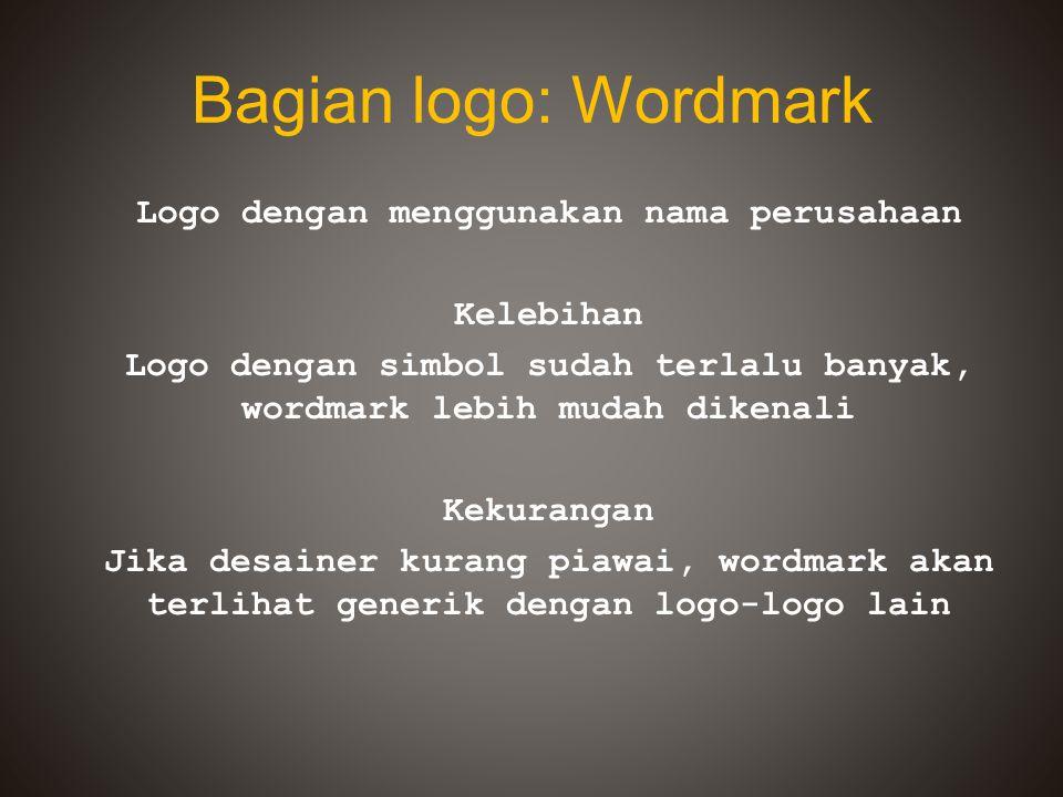 Bagian logo: Wordmark