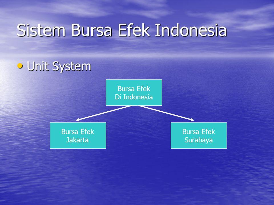 Sistem Bursa Efek Indonesia