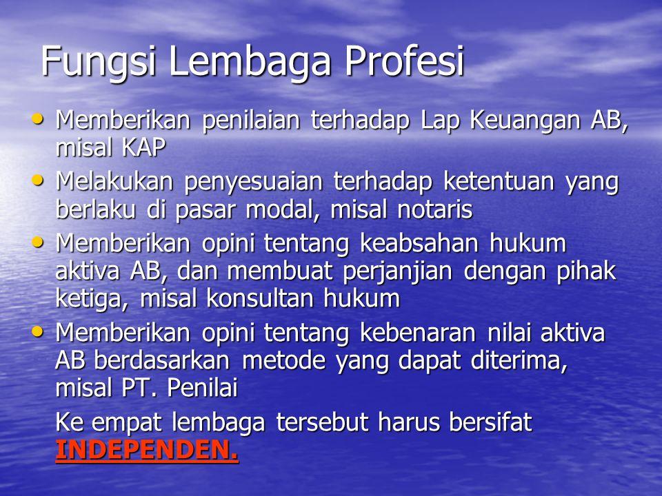 Fungsi Lembaga Profesi