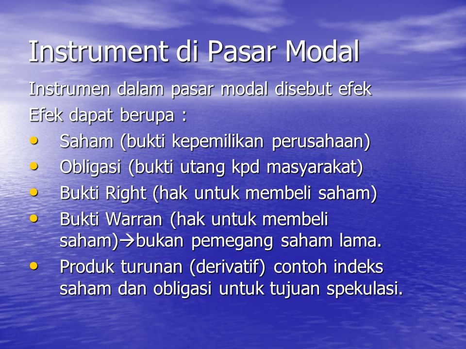 Instrument di Pasar Modal