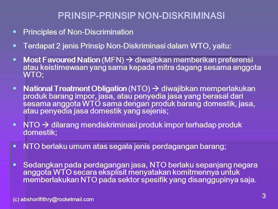 PRINSIP-PRINSIP NON-DISKRIMINASI