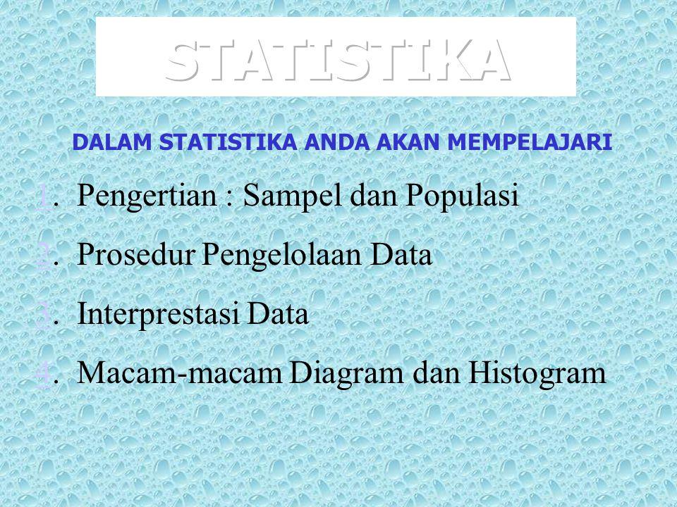 DALAM STATISTIKA ANDA AKAN MEMPELAJARI
