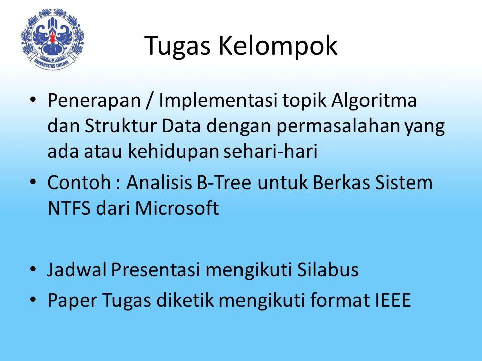 Tugas Kelompok Penerapan / Implementasi topik Algoritma dan Struktur Data dengan permasalahan yang ada atau kehidupan sehari-hari.