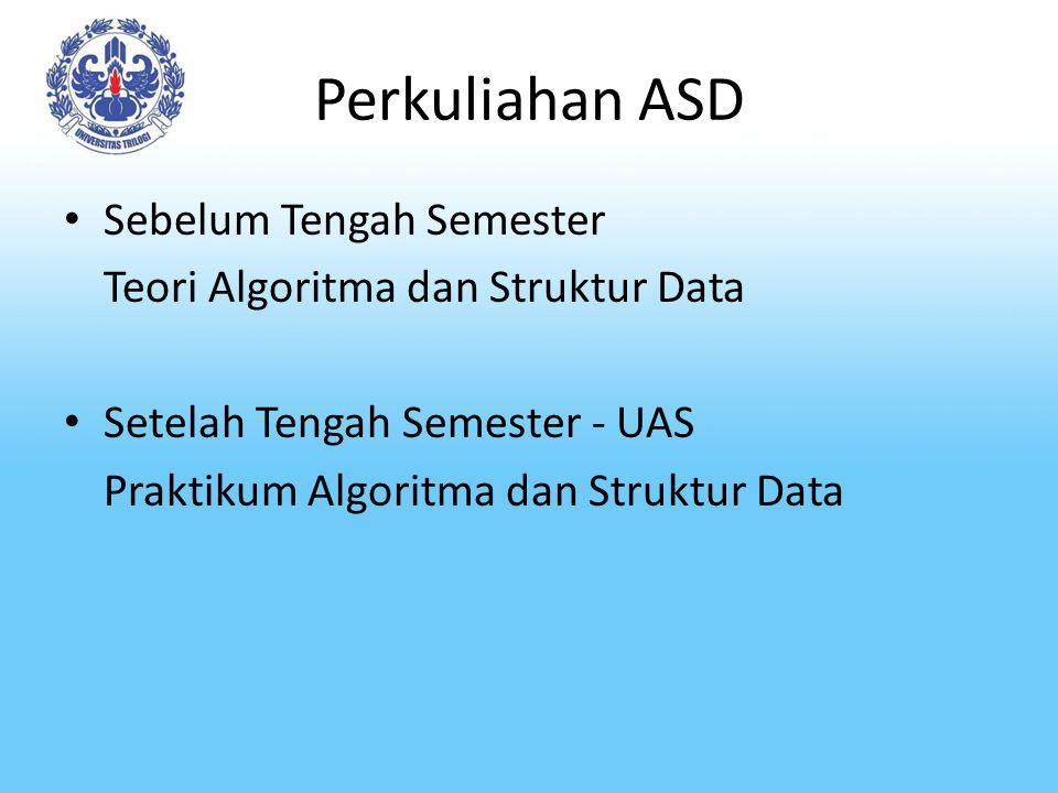 Perkuliahan ASD Sebelum Tengah Semester