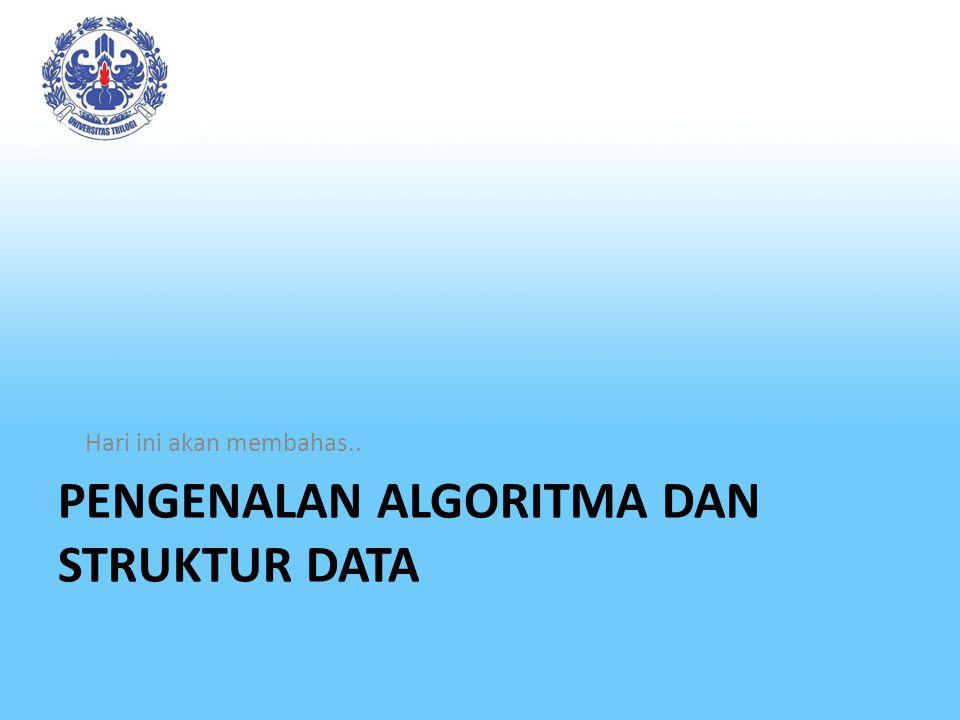 Pengenalan algoritma dan struktur data