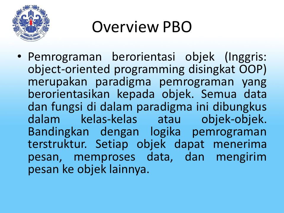 Overview PBO