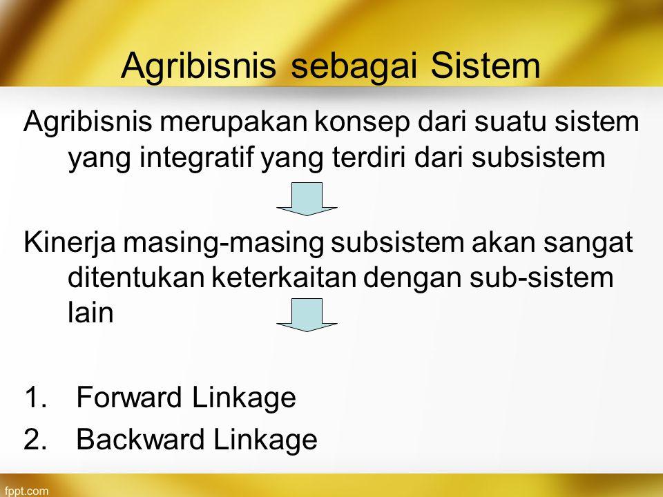 Agribisnis sebagai Sistem