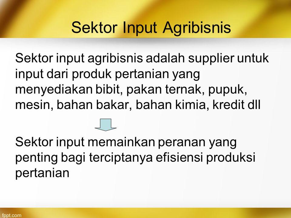 Sektor Input Agribisnis