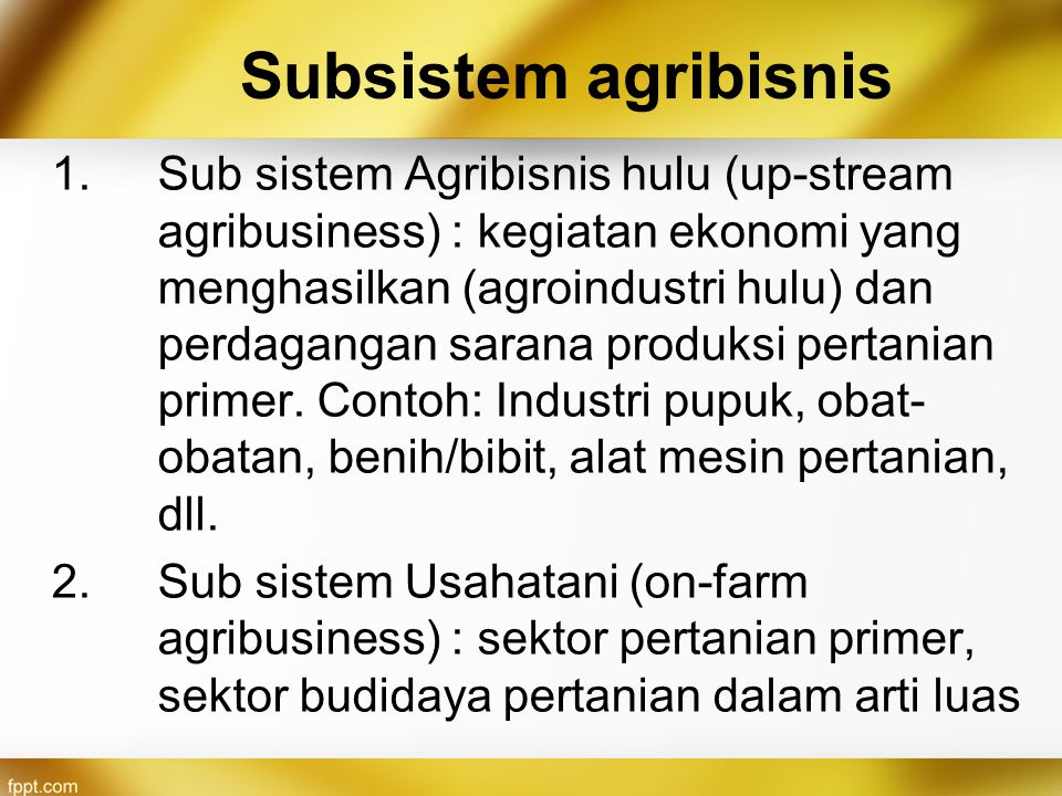 Subsistem agribisnis