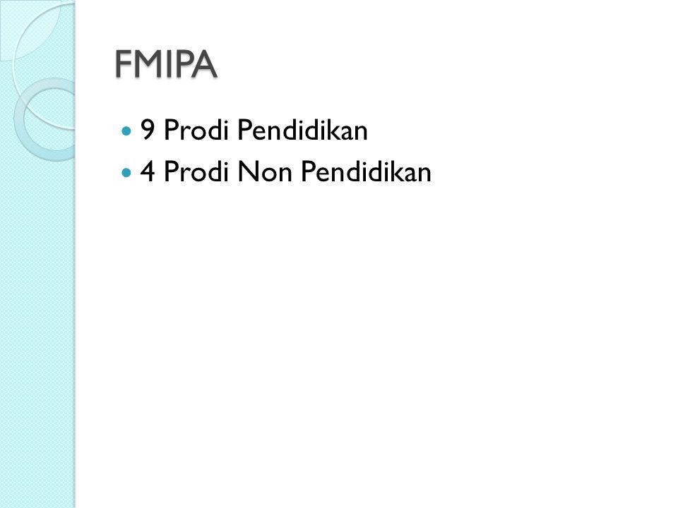 FMIPA 9 Prodi Pendidikan 4 Prodi Non Pendidikan