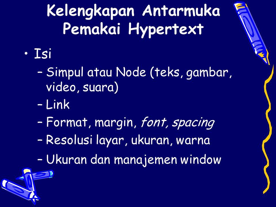 Kelengkapan Antarmuka Pemakai Hypertext