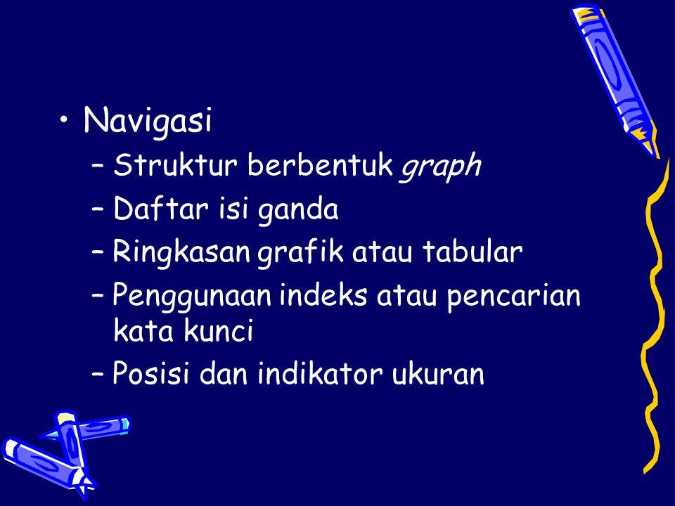 Navigasi Struktur berbentuk graph Daftar isi ganda