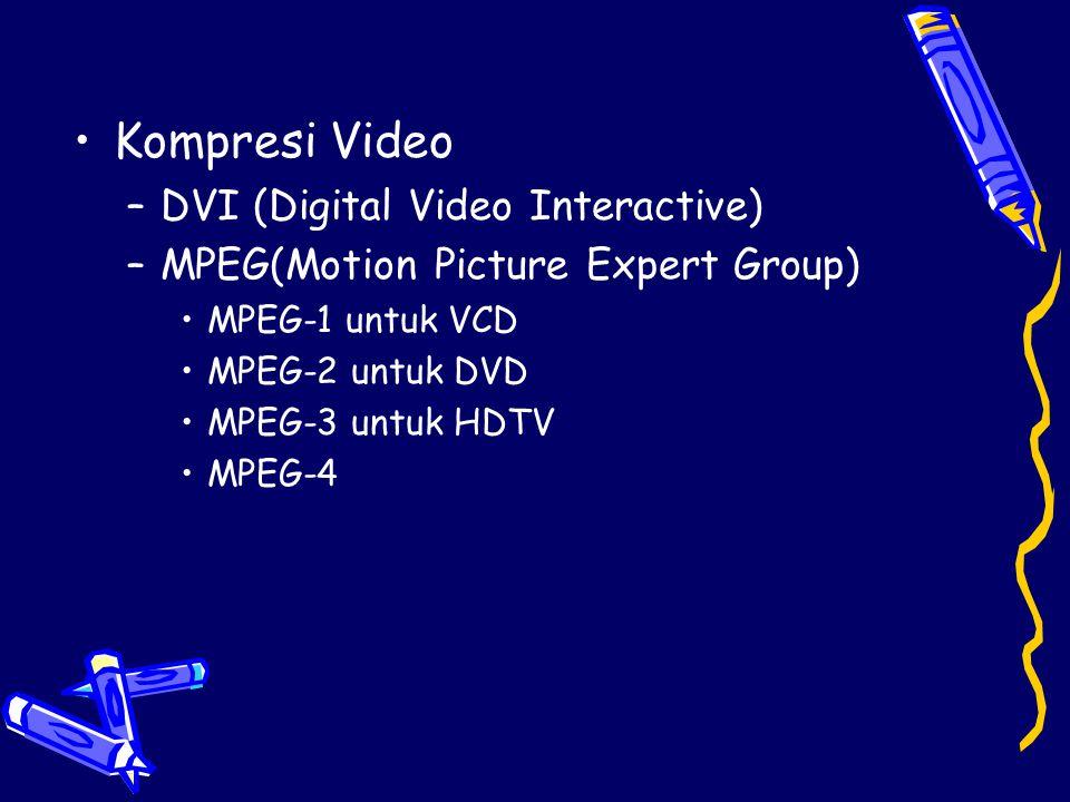 Kompresi Video DVI (Digital Video Interactive)