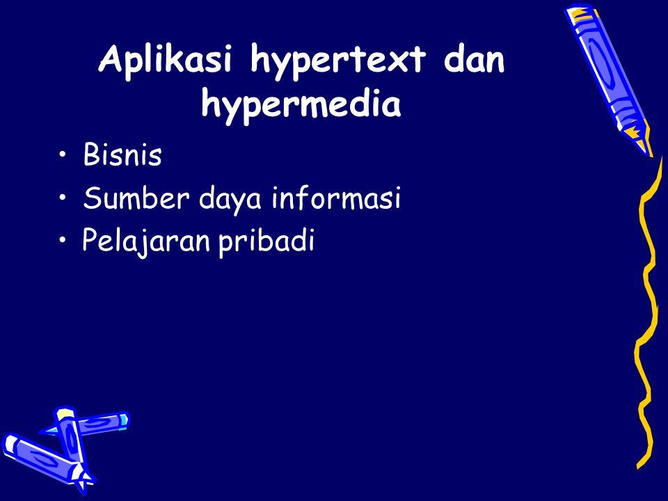Aplikasi hypertext dan hypermedia