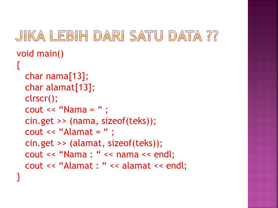 Jika lebih dari satu data