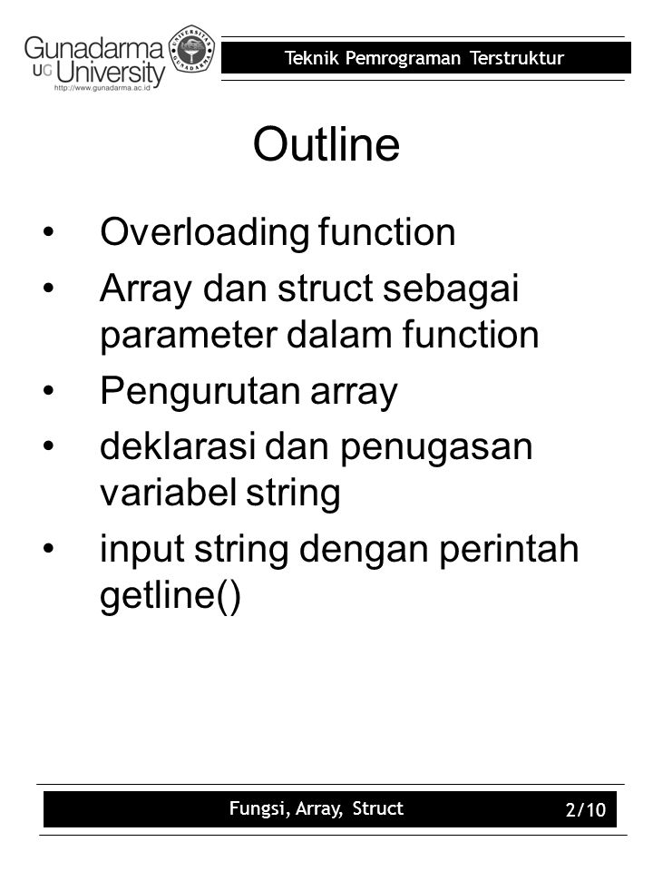Outline Overloading function