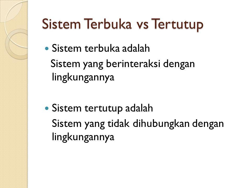 Sistem Terbuka vs Tertutup