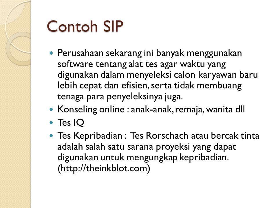Contoh SIP