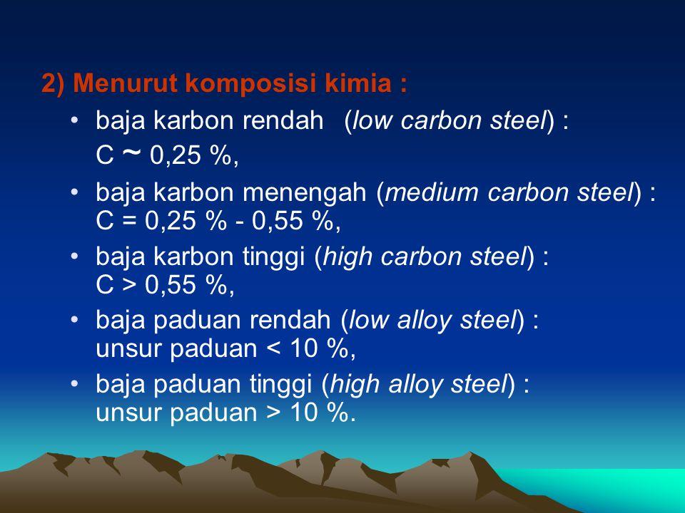 2) Menurut komposisi kimia :
