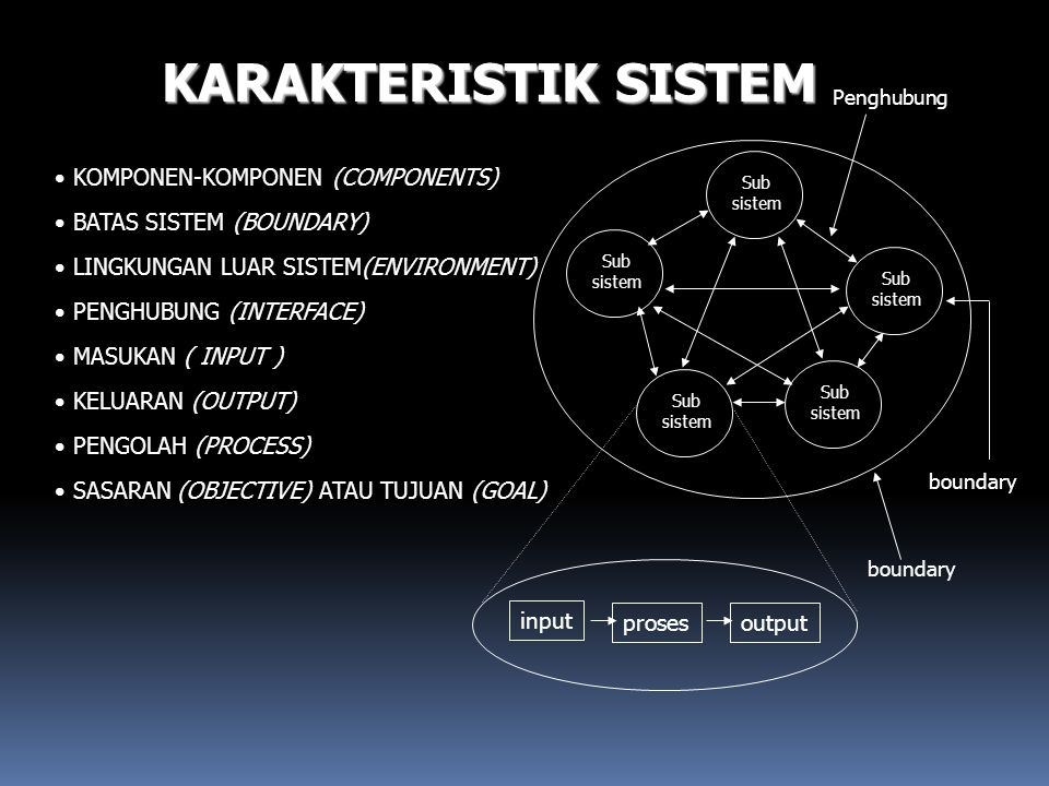 KARAKTERISTIK SISTEM KOMPONEN-KOMPONEN (COMPONENTS)