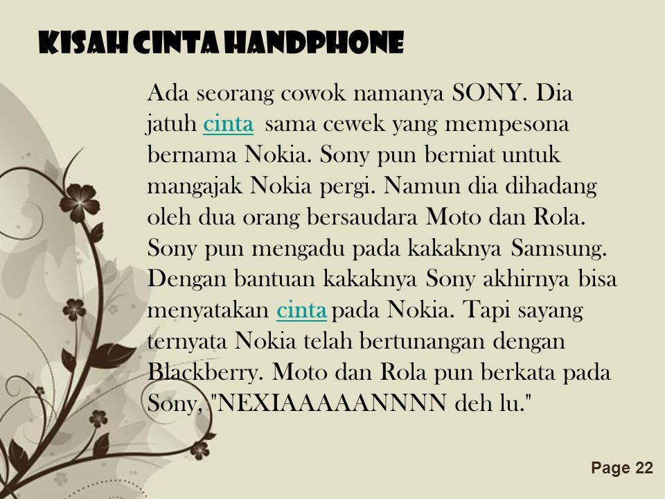Kisah cinta handphone