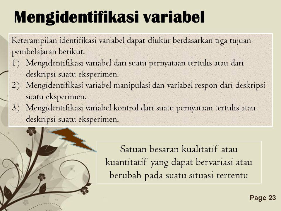 Mengidentifikasi variabel