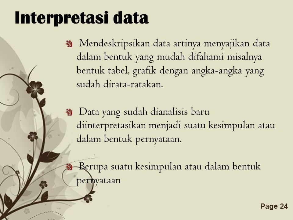 Interpretasi data