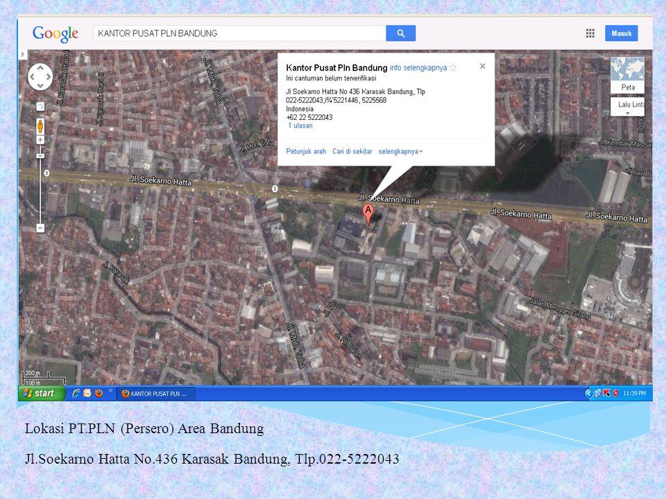 Lokasi PT.PLN (Persero) Area Bandung