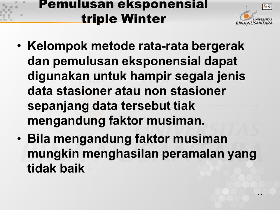 Pemulusan eksponensial triple Winter