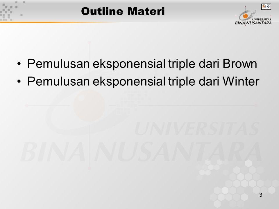 Pemulusan eksponensial triple dari Brown