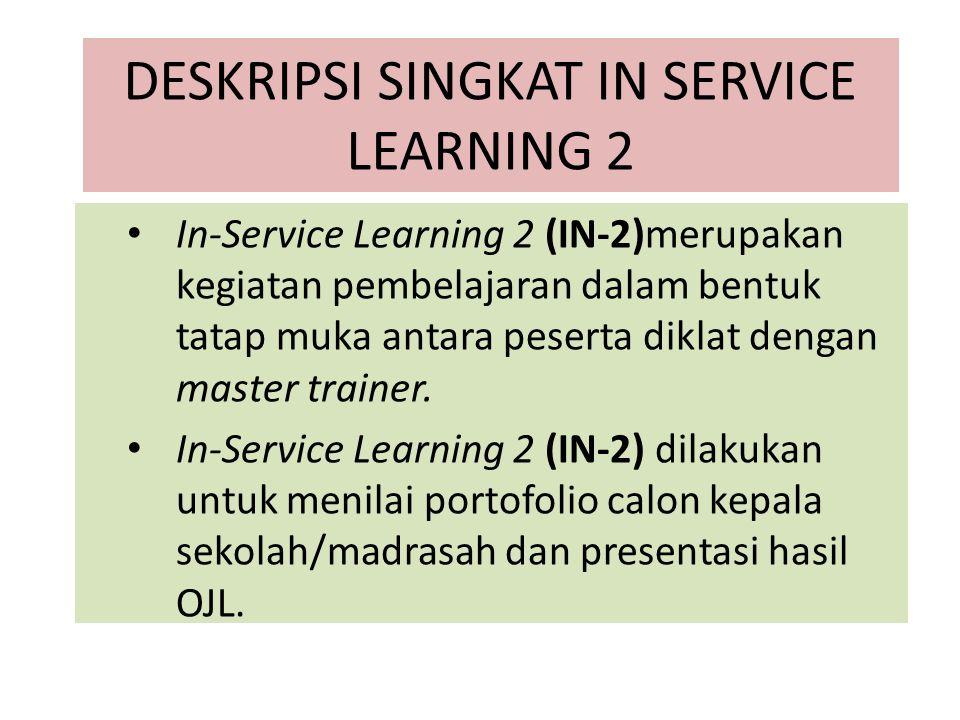 DESKRIPSI SINGKAT IN SERVICE LEARNING 2