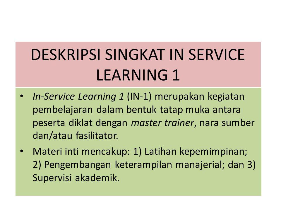 DESKRIPSI SINGKAT IN SERVICE LEARNING 1