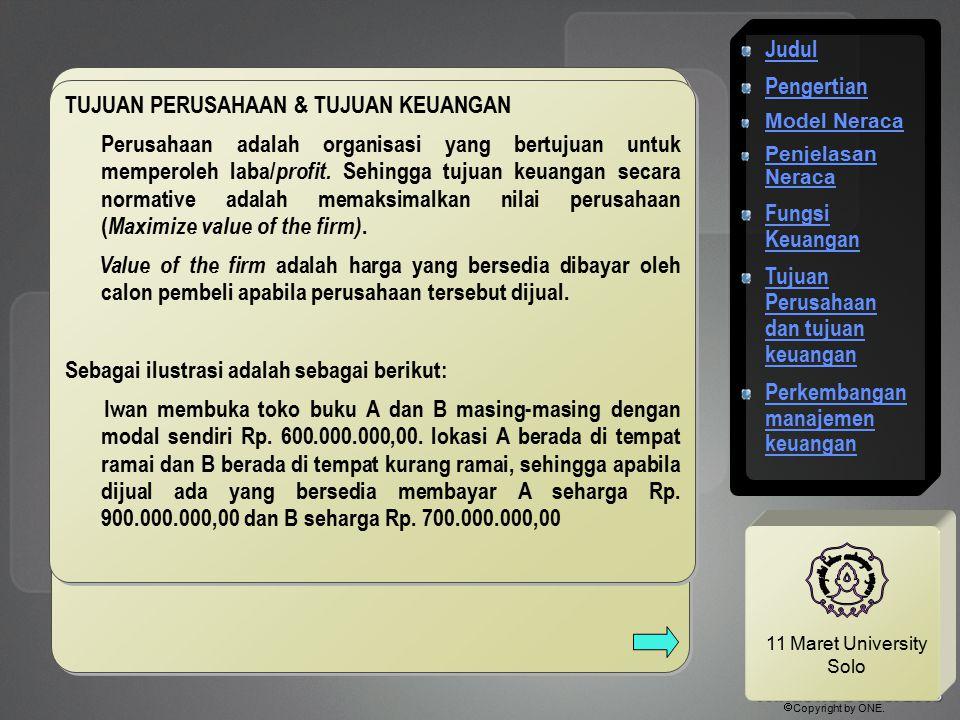 Tujuan Perusahaan dan tujuan keuangan