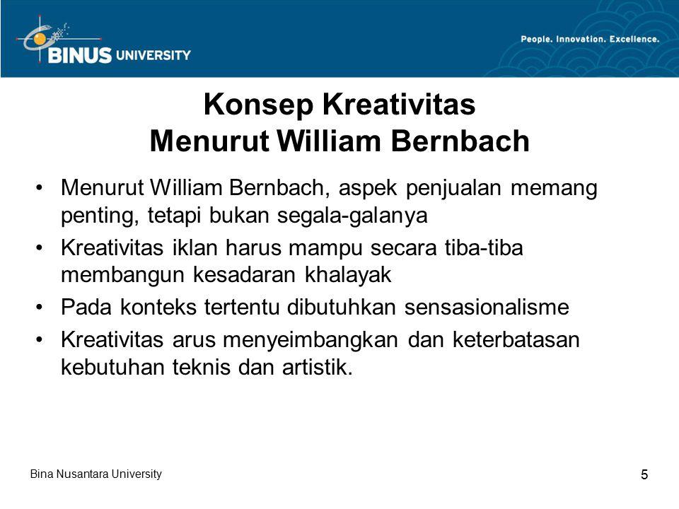 Konsep Kreativitas Menurut William Bernbach