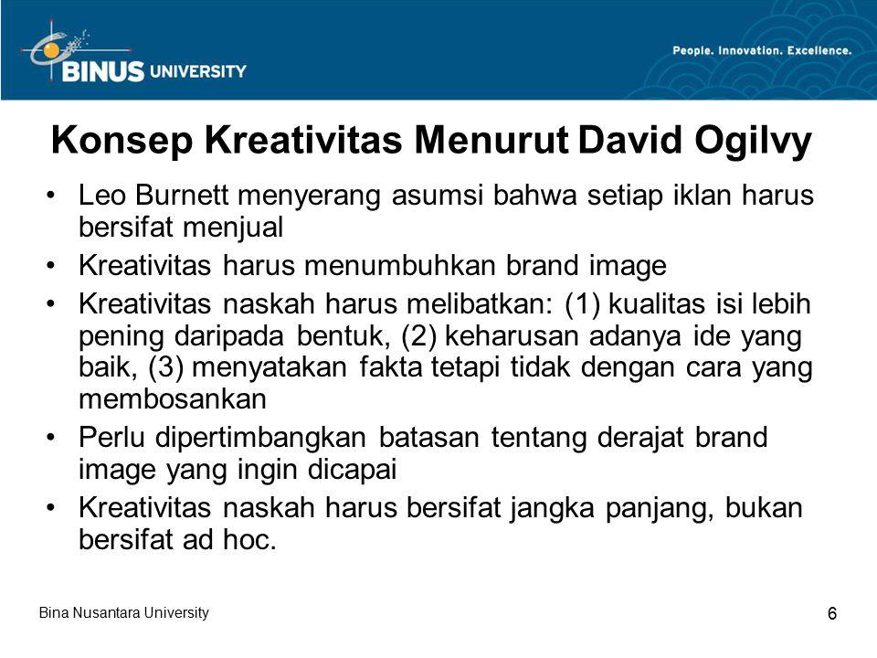 Konsep Kreativitas Menurut David Ogilvy