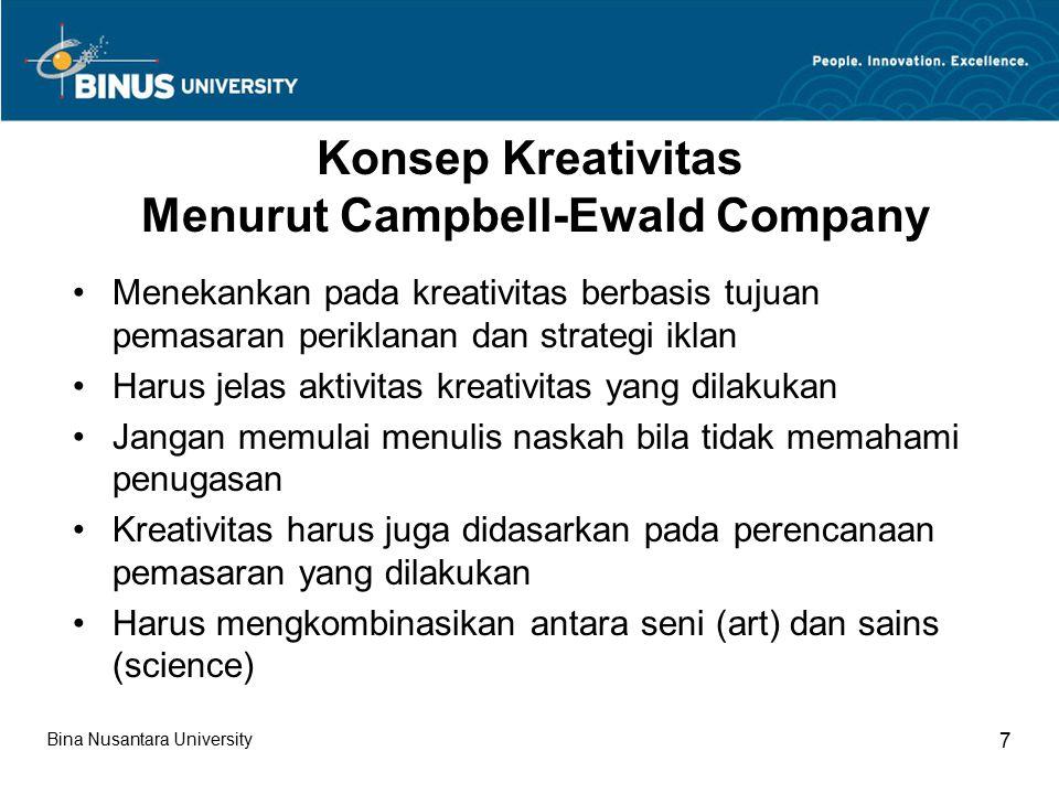 Konsep Kreativitas Menurut Campbell-Ewald Company