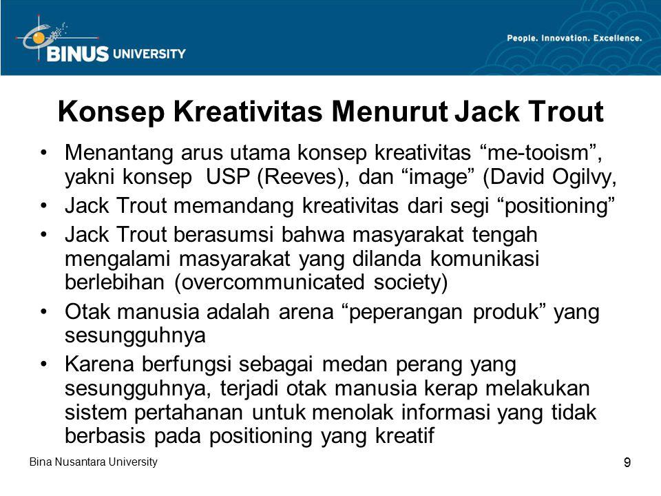 Konsep Kreativitas Menurut Jack Trout