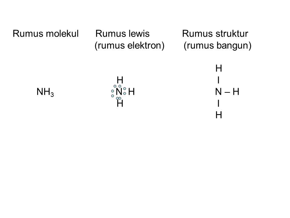 Rumus molekul Rumus lewis Rumus struktur