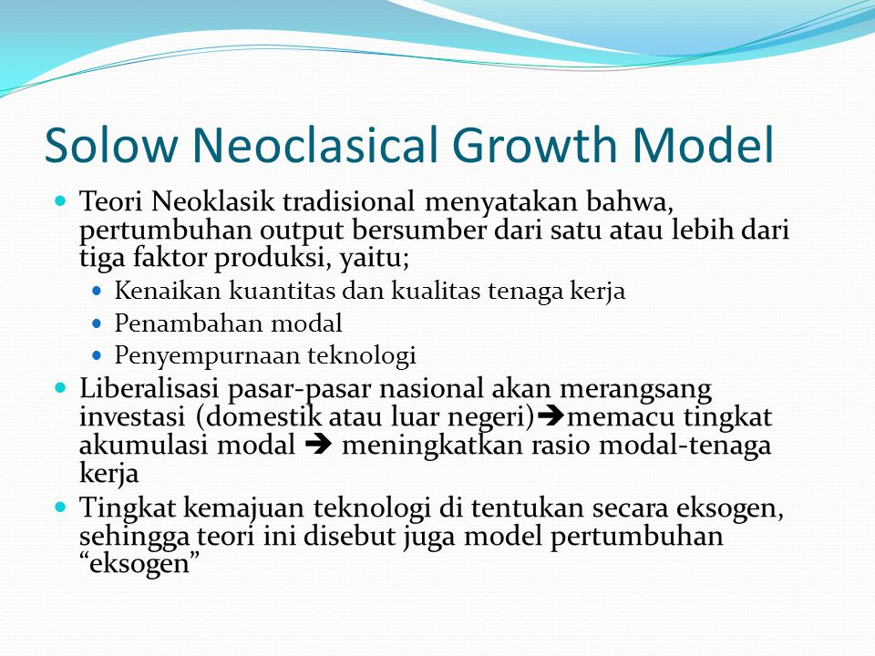 Solow Neoclasical Growth Model