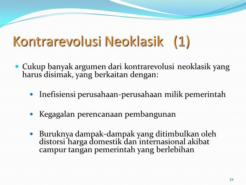 Kontrarevolusi Neoklasik (1)