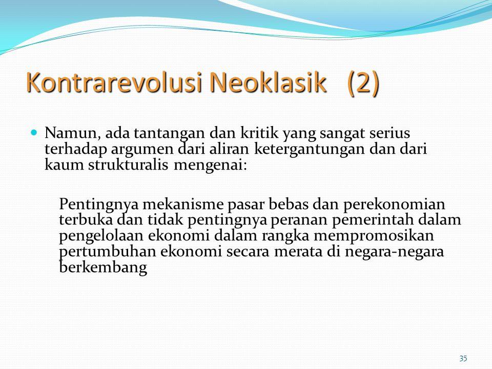 Kontrarevolusi Neoklasik (2)